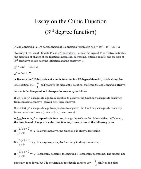 essay on cubic function (1)