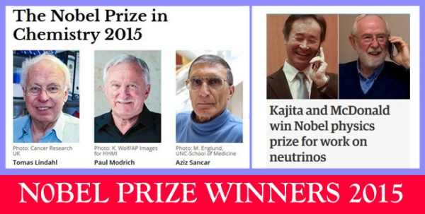 Nobel Prize 2015 winners