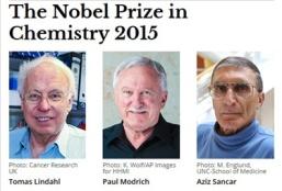 Nobel prize Chemistry 2015 winners