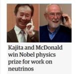 Nobel prize Physics 2015 winners