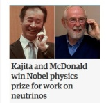 Nobel prize Physics 2015 winners