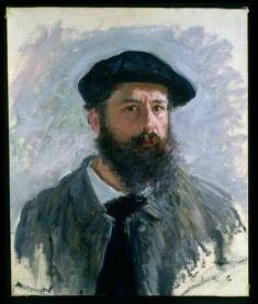 LEF220978 Self Portrait with a Beret, 1886 (oil on canvas) by Monet, Claude (1840-1926) oil on canvas 56x46 Private Collection © Lefevre Fine Art Ltd., London French, out of copyright