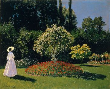 woman in a garden, 1867, Claude_Monet_022