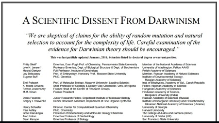Scientific Dissent from Darwinism